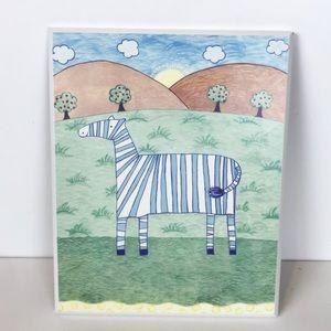"Other - Nursery Decor Zebra Picture-Unisex - 8"" x 10"""